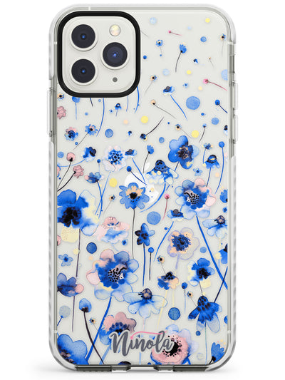 Ink Flowers Blue Impact Phone Case for iPhone 11 Pro Max