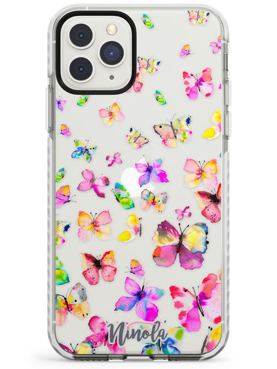 Watercolor Butterflies Impact Phone Case for iPhone 11 Pro Max
