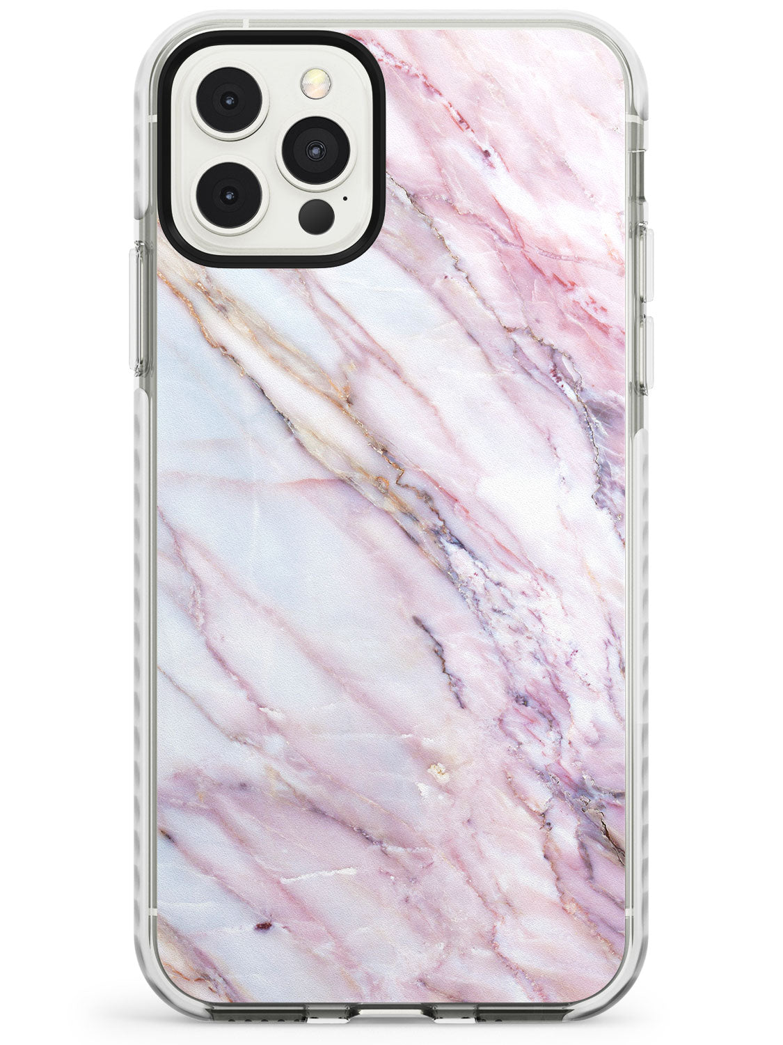 White, Pink & Purple Onyx Marble Texture iPhone Case