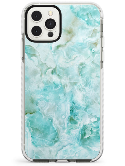 Turquoise Aqua Onyx Marble Slim TPU Phone Case for iPhone 11 Pro Max