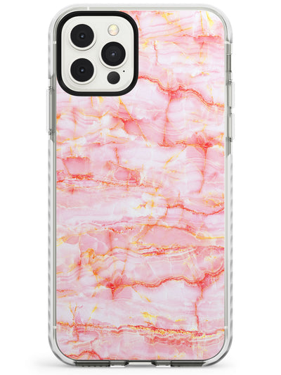 Pink & Yellow Onyx Marble Texture Slim TPU Phone Case for iPhone 11 Pro Max