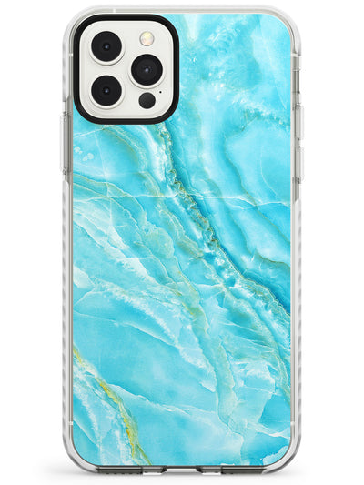 Bright Blue Onyx Marble Texture Slim TPU Phone Case for iPhone 11 Pro Max
