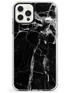 Black Onyx Marble Texture iPhone Case
