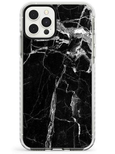 Black Onyx Marble Texture iPhone Case  Impact Case Phone Case - Case Warehouse