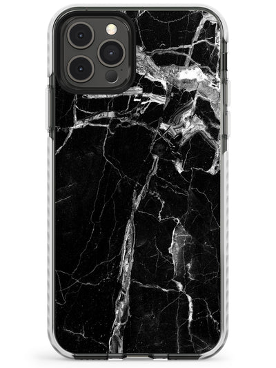 Black Onyx Marble Texture Slim TPU Phone Case for iPhone 11 Pro Max