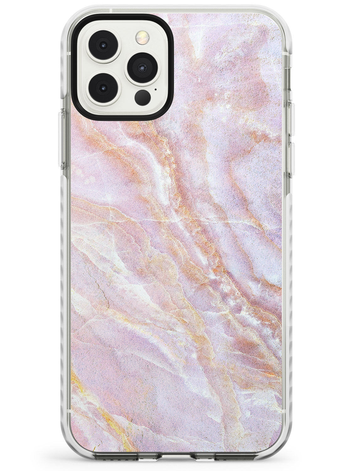 Soft Pink & Yellow Onyx Marble Texture iPhone Case