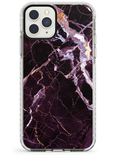 Black, Purple & Yellow shattered Marble Impact Phone Case for iPhone 11 Pro Max