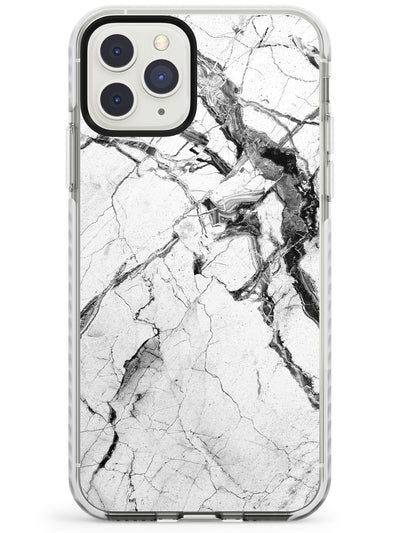 Black & White Stormy Marble Impact Phone Case for iPhone 11 Pro Max
