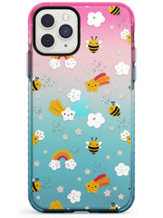 Busy Bee Pink Fade Impact Phone Case for iPhone 11 Pro Max