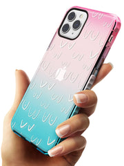 Boob Pattern (White) Pink Fade Impact Phone Case for iPhone 11 Pro Max