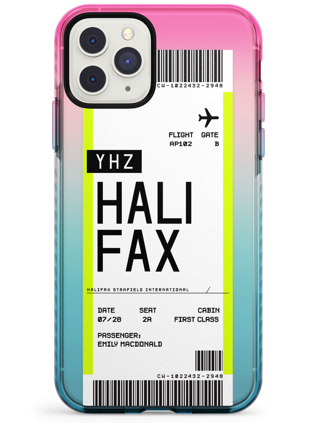 Halifax Boarding Pass iPhone Case  Pink Fade Impact Custom Phone Case - Case Warehouse