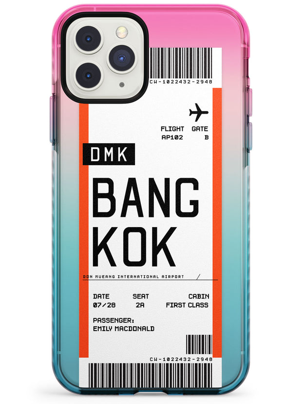 Bangkok Boarding Pass iPhone Case  Pink Fade Impact Custom Phone Case - Case Warehouse