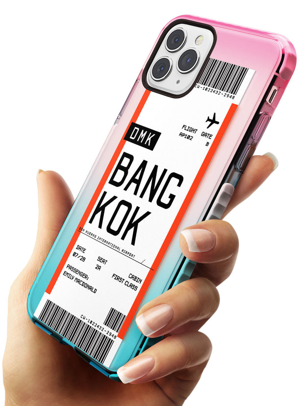Bangkok Boarding Pass iPhone Case   Custom Phone Case - Case Warehouse