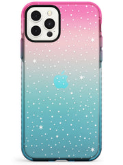 Celestial Starry Sky White Pink Fade Impact Phone Case for iPhone 11 Pro Max
