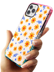 Cute Daisy Pattern - Solid iPhone Case Pink Fade Impact Phone Case Warehouse 11 Pro Max