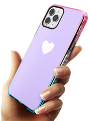 Single Heart White & Pale Purple Pink Fade Impact Phone Case for iPhone 11 Pro Max