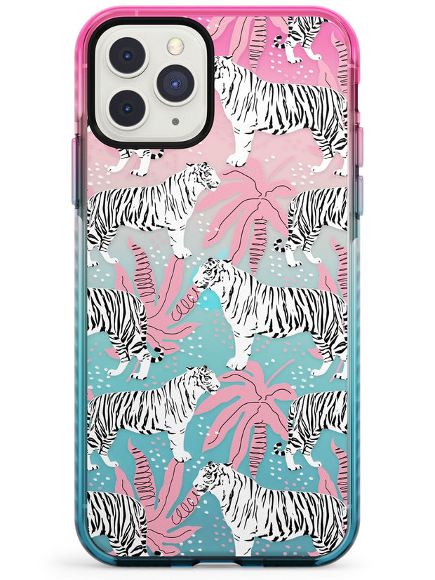 Tigers Within Pink Fade Impact Phone Case for iPhone 11 Pro Max