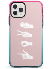 LOVE Sing Language Pink Fade Impact Phone Case for iPhone 11 Pro Max
