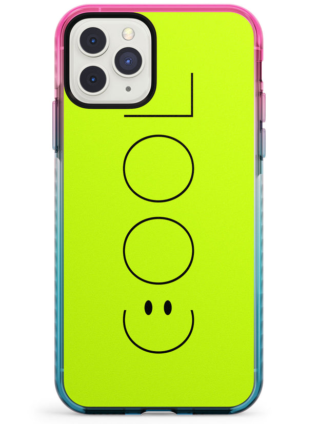 COOL Smiley Face Pink Fade Impact Phone Case for iPhone 11 Pro Max