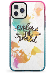 'Explore the World' iPhone Case  Pink Fade Impact Phone Case - Case Warehouse