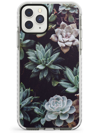 Mixed Succulents - Real Botanical Photographs Impact Phone Case for iPhone 11 Pro Max