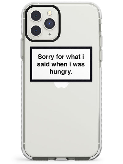 Sorry for what I said iPhone Case  Impact Case Phone Case - Case Warehouse