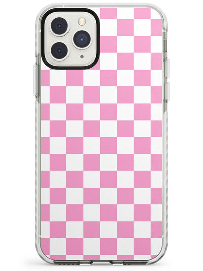 Pink Checkered iPhone Case  Impact Case Phone Case - Case Warehouse