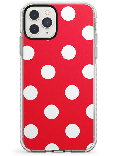 Lava Red Polka iPhone Case  Impact Case Phone Case - Case Warehouse
