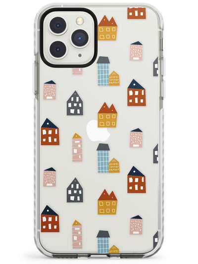 Cute Scandinavian Buildings Impact Phone Case for iPhone 11 Pro Max