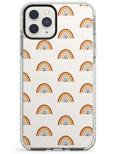 Cute Scandinavian Patterns: Rainbows Impact Phone Case for iPhone 11 Pro Max