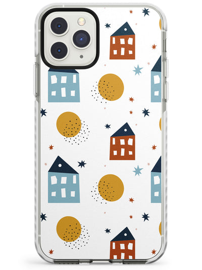 Cute Scandinavian Patterns: Houses Impact Phone Case for iPhone 11 Pro Max