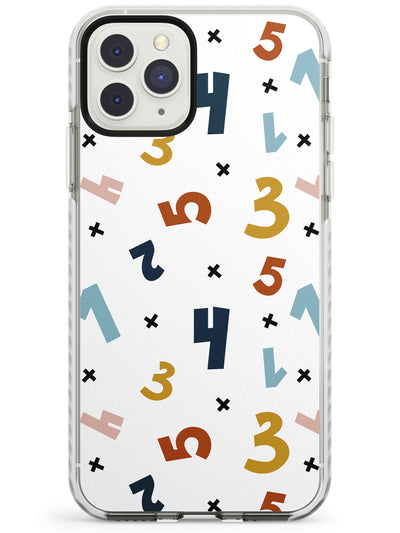 Cute Scandinavian Patterns: Numbers Impact Phone Case for iPhone 11 Pro Max