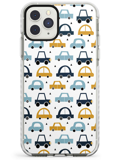 Cute Scandinavian Patterns: Cars Impact Phone Case for iPhone 11 Pro Max