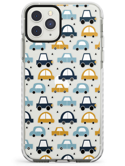Cute Scandinavian Patterns: Cars - Clear Impact Phone Case for iPhone 11 Pro Max