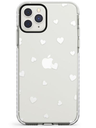 White Hearts Pattern Impact Phone Case for iPhone 11 Pro Max