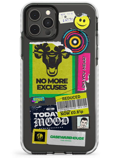No More Excuses Sticker Mix Slim TPU Phone Case for iPhone 11 Pro Max