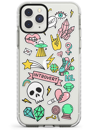 Introvert Sticker  iPhone Case  Impact Case Phone Case - Case Warehouse
