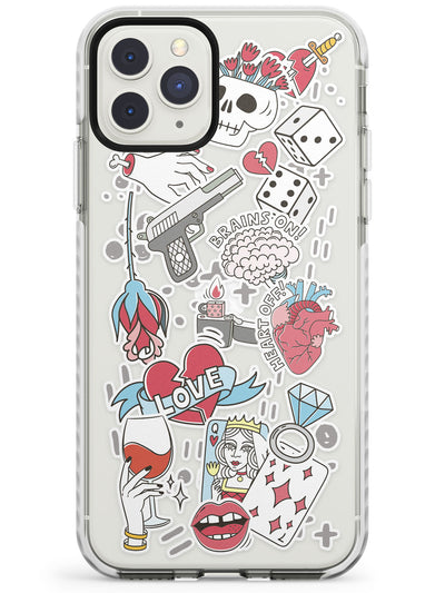 Brains on, Heart off! iPhone Case  Impact Case Phone Case - Case Warehouse