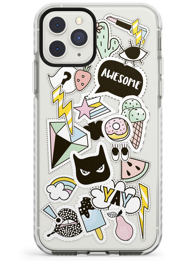Black Cat sticker iPhone Case  Impact Case Phone Case - Case Warehouse