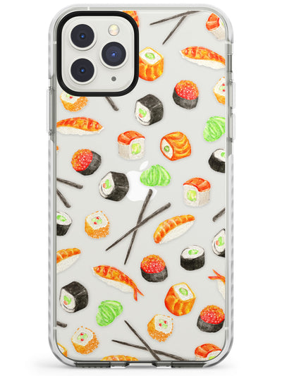 Sushi & Chopsticks Watercolour Pattern Impact Phone Case for iPhone 11 Pro Max