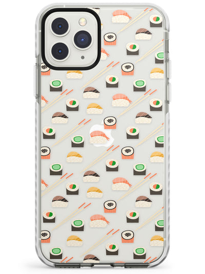 Sushi & Chopsticks Pattern iPhone Case  Impact Case Phone Case - Case Warehouse