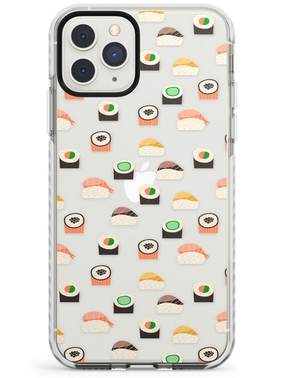 Simple Japanese Sushi Pattern Impact Phone Case for iPhone 11 Pro Max
