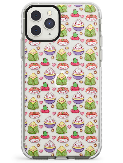 Kawaii Rice & Nigiri Japanese Sushi Impact Phone Case for iPhone 11 Pro Max