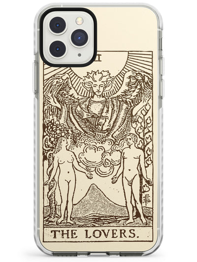 The Lovers Tarot Card Cream Impact Phone Case for iPhone 11 Pro Max