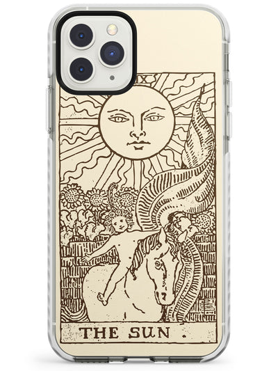 The Sun Tarot Card Cream Impact Phone Case for iPhone 11 Pro Max