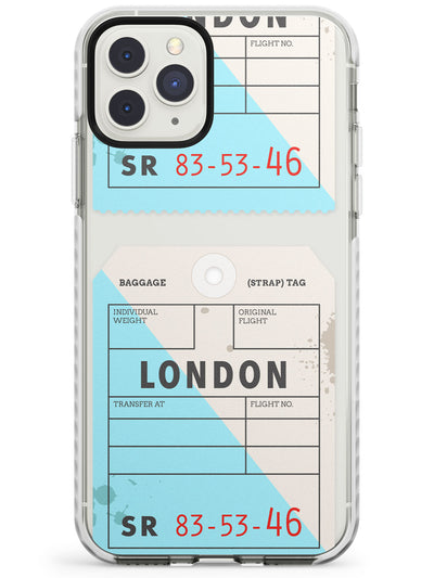 London - Baggage Tag Design  Impact Phone Case for iPhone 11 Pro Max