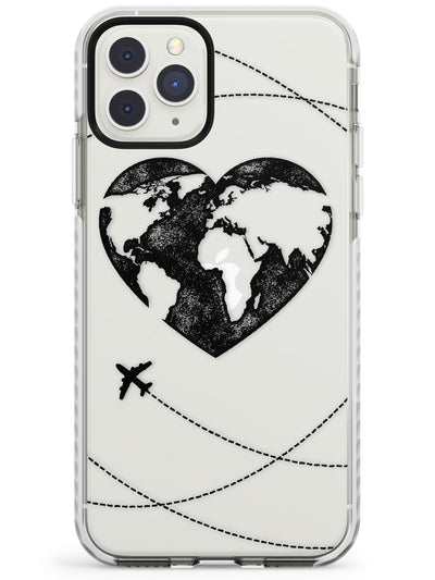 Globe Heart iPhone Case  Impact Case Phone Case - Case Warehouse