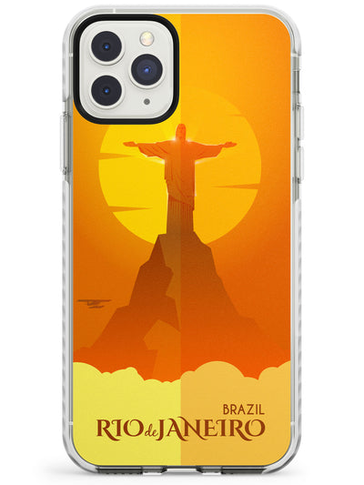 Vintage Travel Poster Rio de Janeiro Impact Phone Case for iPhone 11 Pro Max