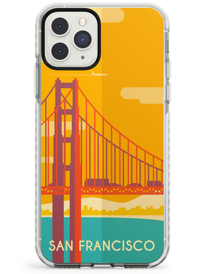 Vintage Travel Poster San Francisco Impact Phone Case for iPhone 11 Pro Max