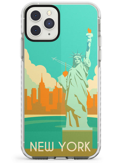 Vintage Travel Poster New York Impact Phone Case for iPhone 11 Pro Max